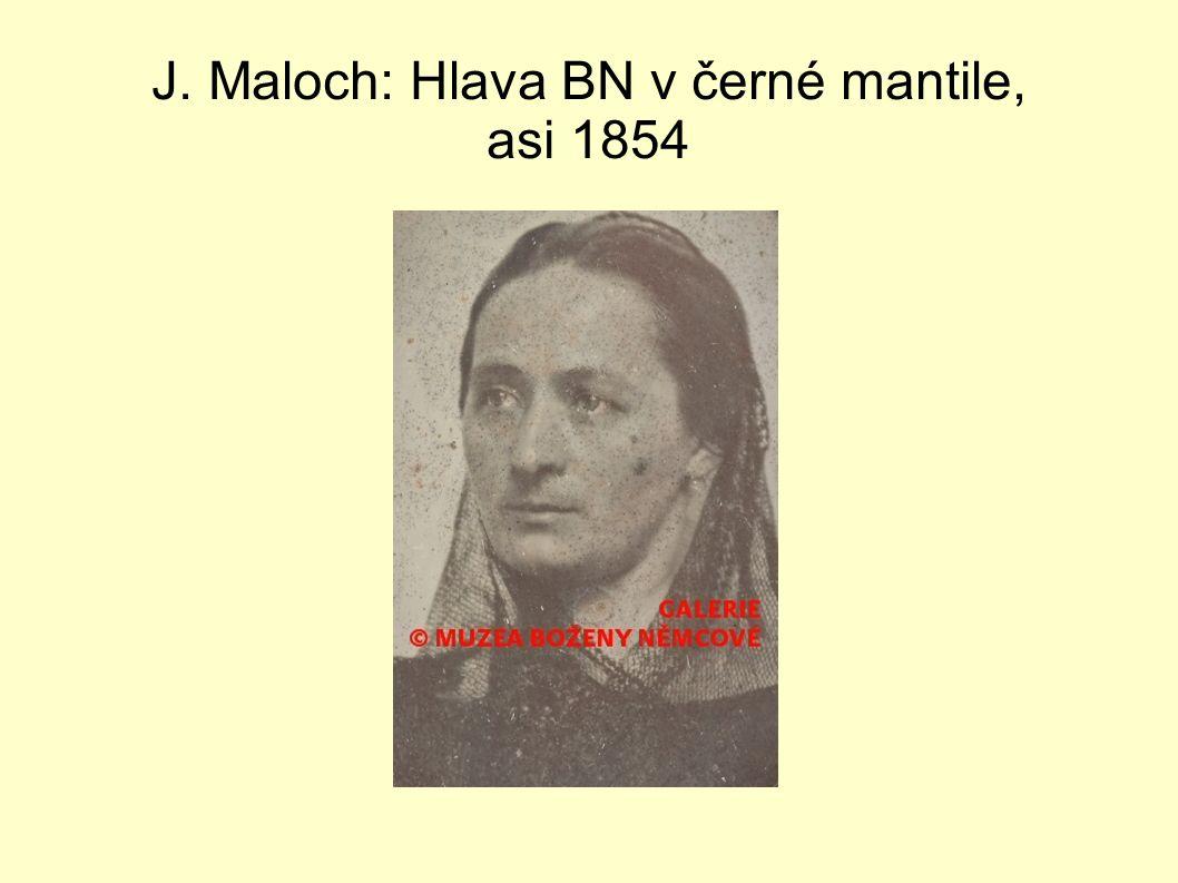 J. Maloch: Hlava BN v černé mantile, asi 1854
