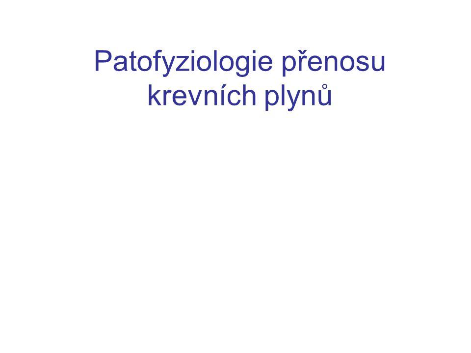 Patofyziologie přenosu krevních plynů
