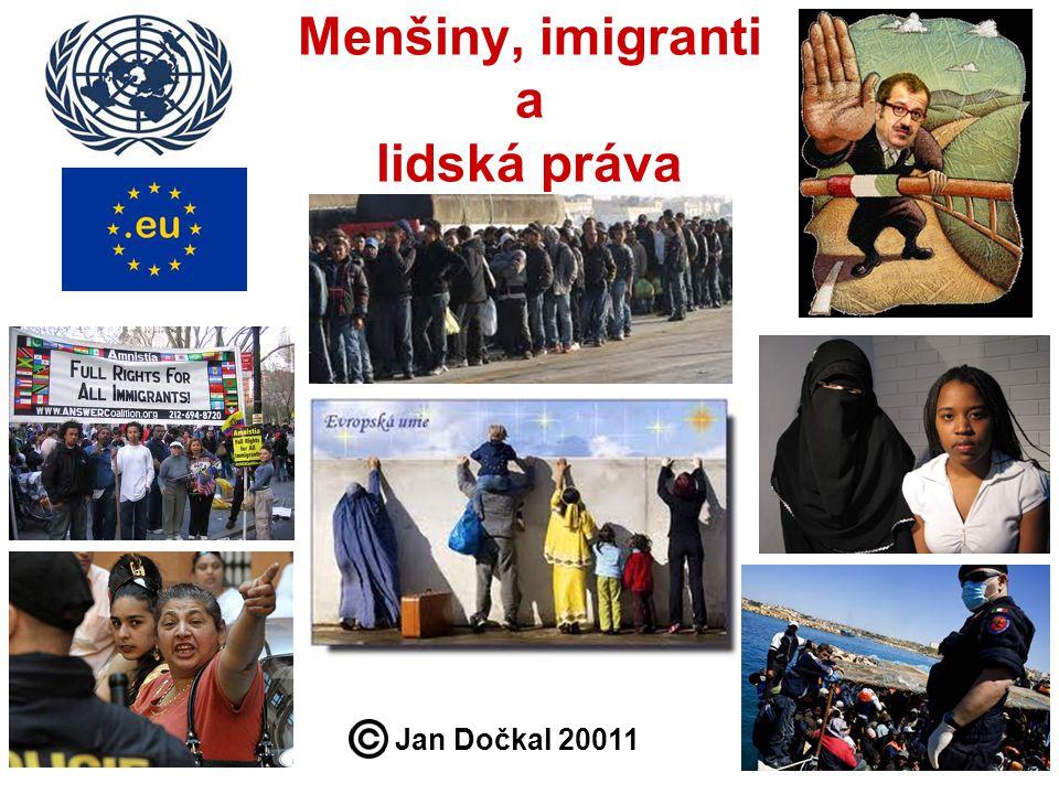 Menšiny, imigranti a lidská práva Jan Dočkal 20011