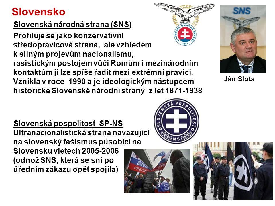 Maďarsko Jobbik Magyarországért Mozgalom - Jobbik Hnutí za lepší Maďarsko,) Extremní pravicová politická strana, vznik 2003, od 2010 má zastoupení v M