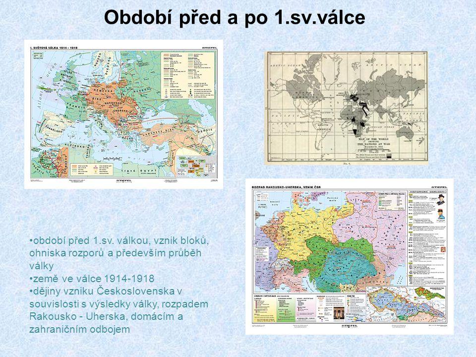 Období před a po 1.sv.válce období před 1.sv.