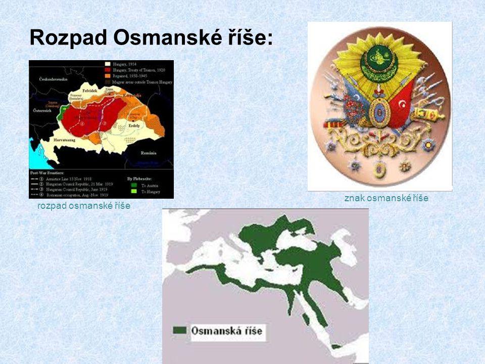 Rozpad Osmanské říše: znak osmanské říše rozpad osmanské říše
