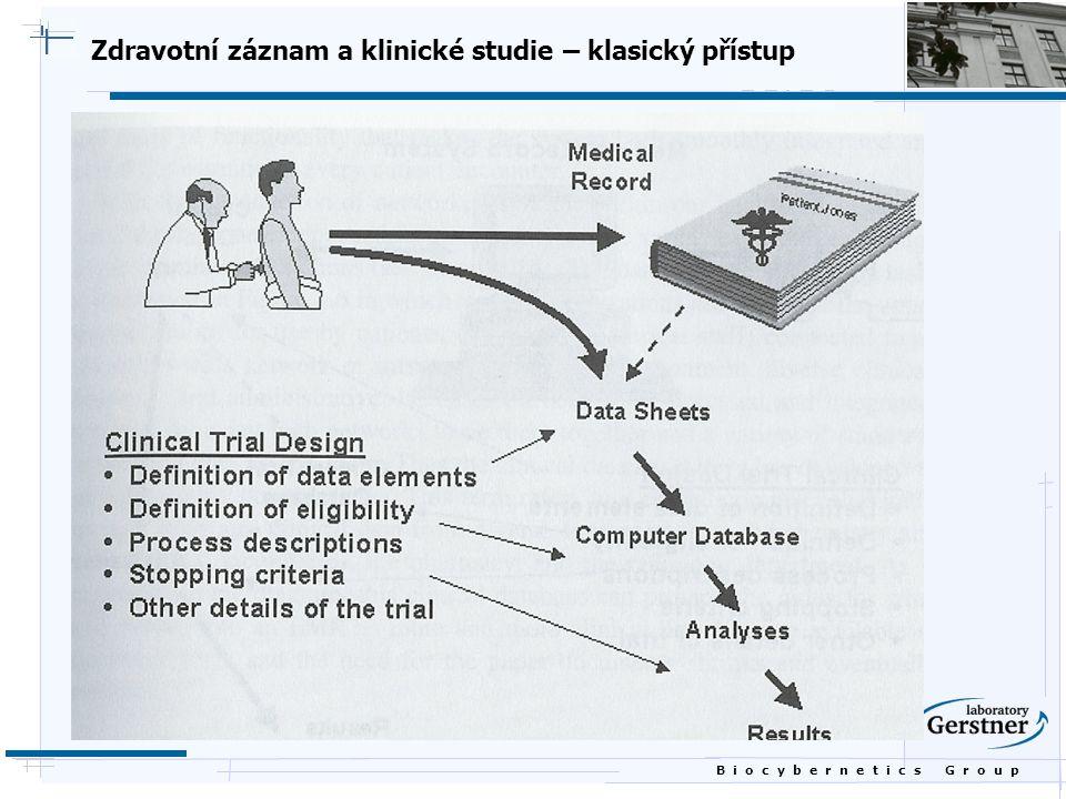 B i o c y b e r n e t i c s G r o u p Zdravotní záznam a klinické studie – klasický přístup