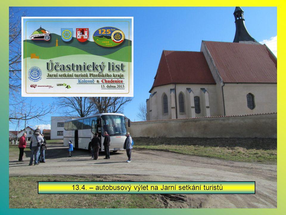 13.4. – autobusový výlet na Jarní setkání turistů