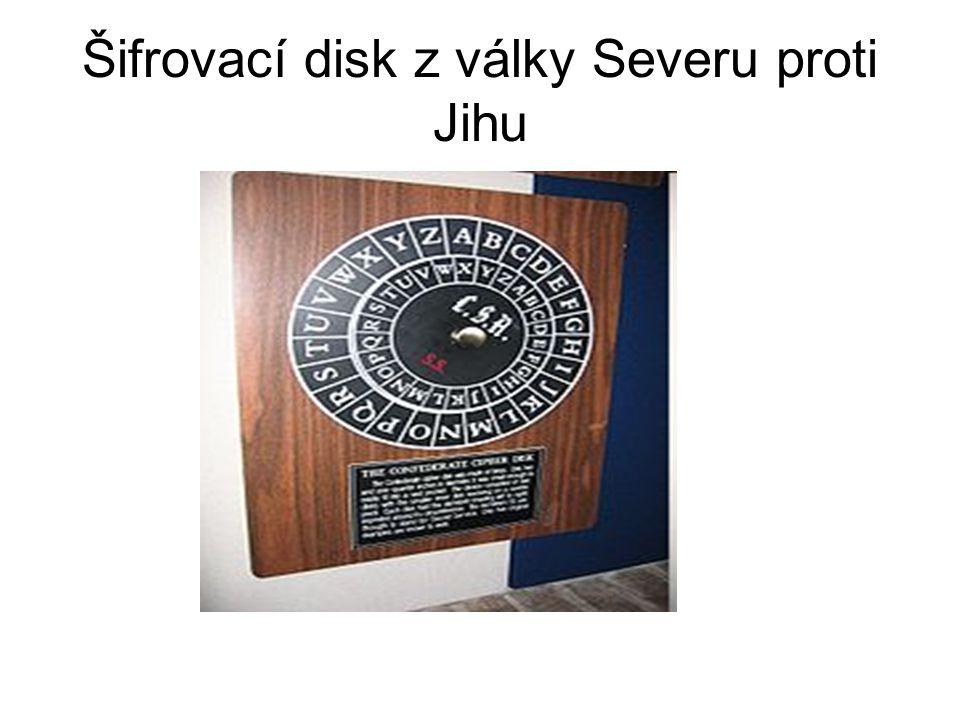 Šifrovací disk z války Severu proti Jihu