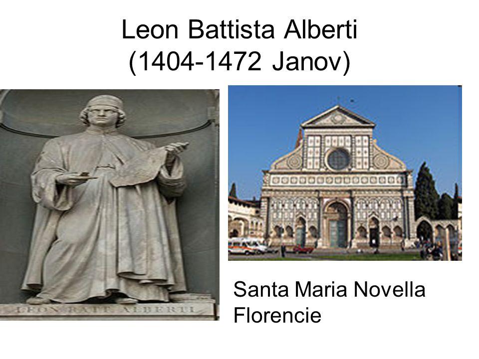 Leon Battista Alberti (1404-1472 Janov) Santa Maria Novella Florencie