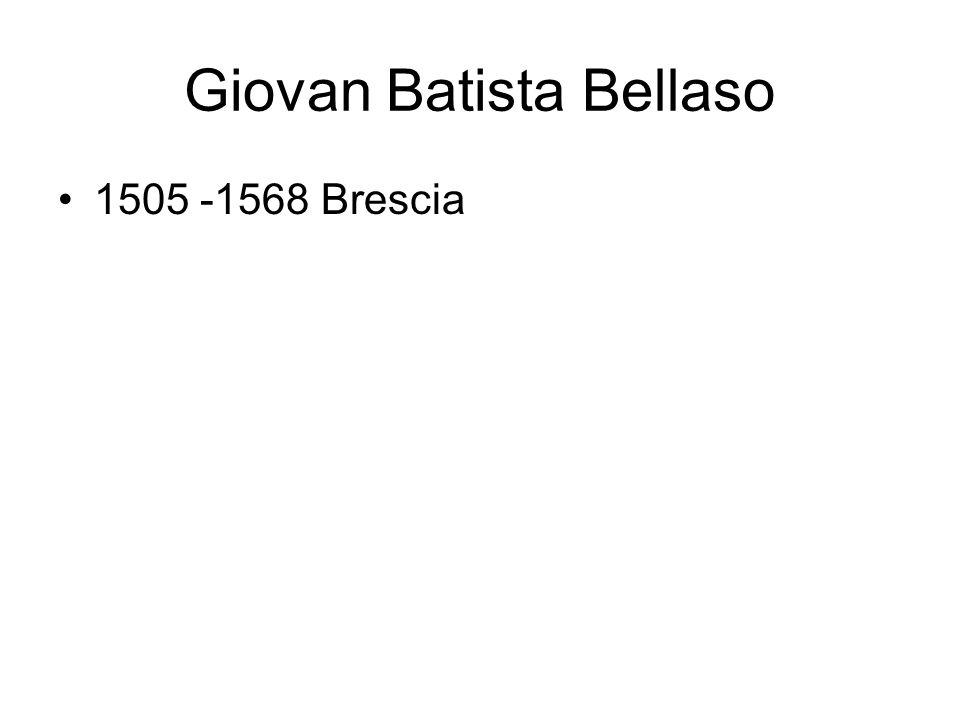 Giovan Batista Bellaso 1505 -1568 Brescia