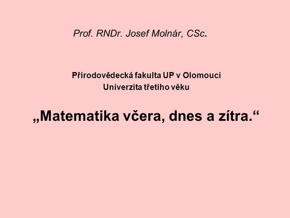 Prof.RNDr. Josef Molnár, CSc.