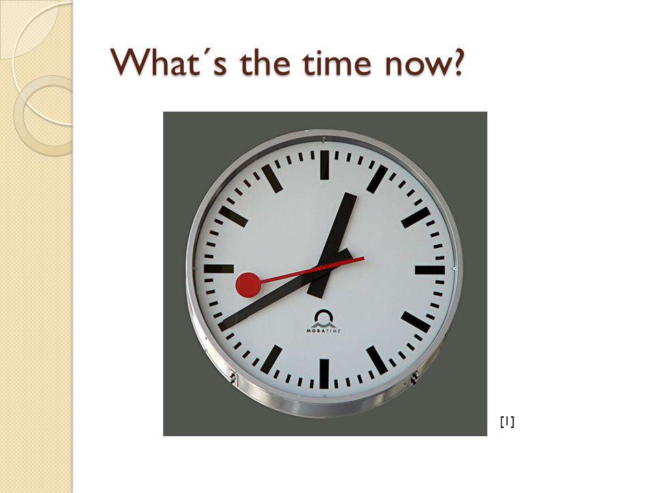 It is six o´clock.(6.00) It is (a) quarter past six.