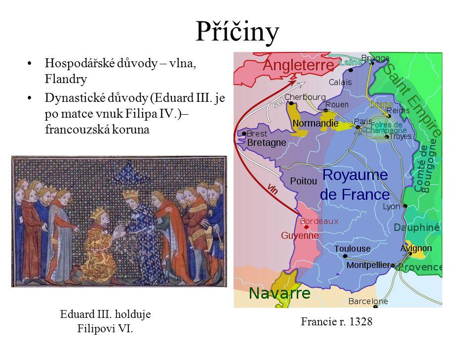 Příčiny Hospodářské důvody – vlna, Flandry Dynastické důvody (Eduard III.