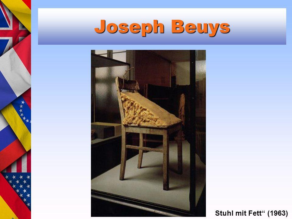 Joseph Beuys Stuhl mit Fett (1963)