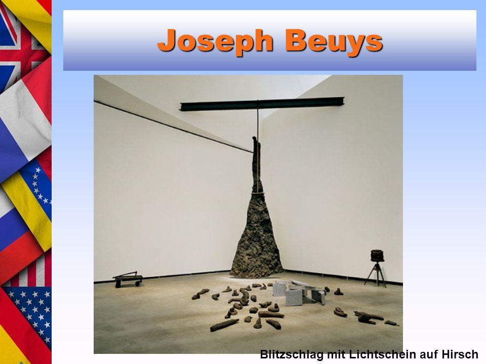 Joseph Beuys Blitzschlag mit Lichtschein auf Hirsch