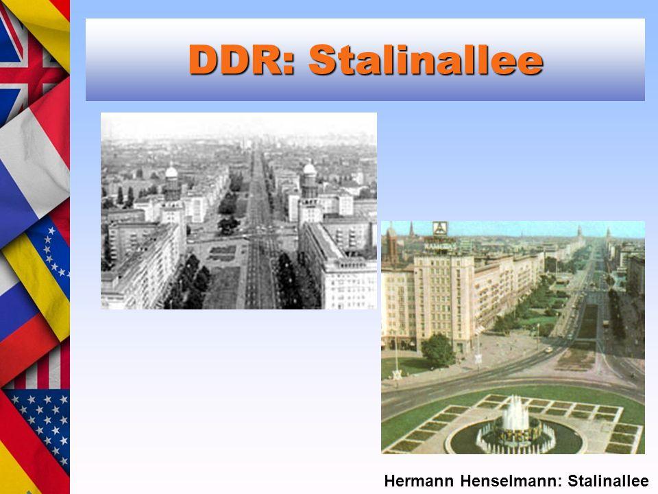 DDR: Stalinallee Hermann Henselmann: Stalinallee