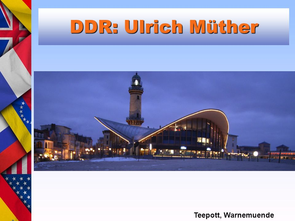 DDR: Ulrich Müther Teepott, Warnemuende