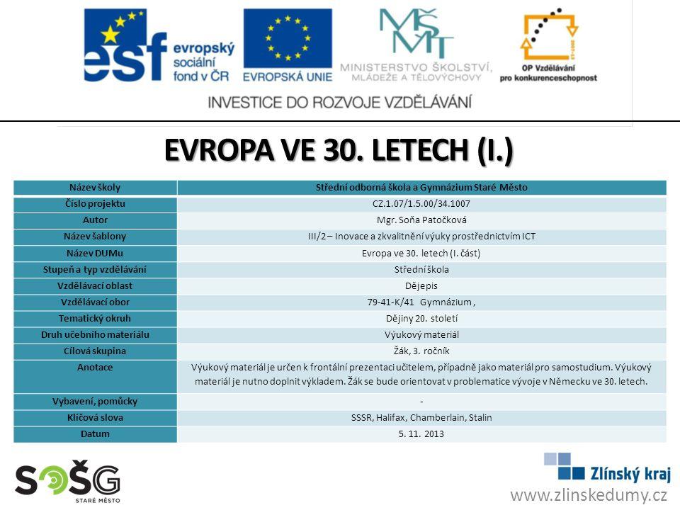 www.zlinskedumy.cz EVROPA VE 30.