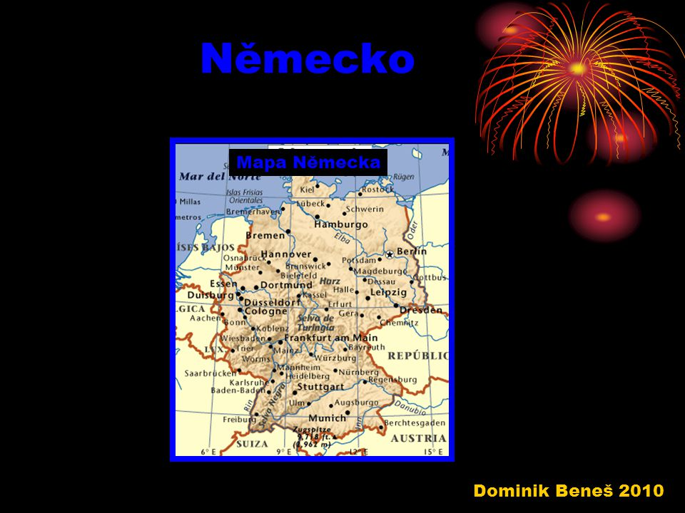 Německo Mapa Německa Dominik Beneš 2010