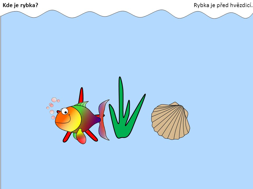 Kde je rybka Rybka je před hvězdicí.