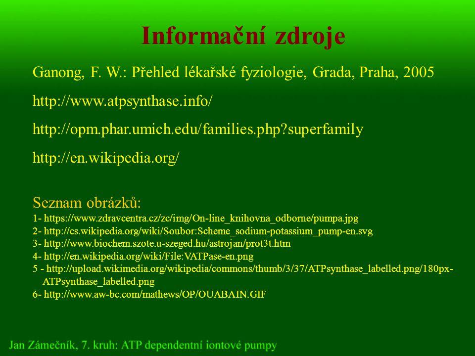 Informační zdroje Ganong, F.