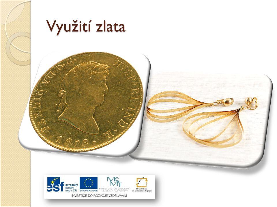 Zlato disponuje výbornou elektrickou vodivostí a proto nachází velké využití v mikroelektronice.