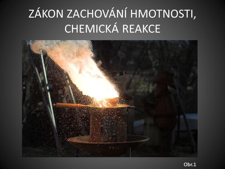ZÁKON ZACHOVÁNÍ HMOTNOSTI, CHEMICKÁ REAKCE Obr.1