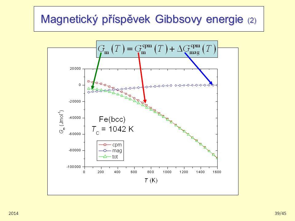 201439/45 Magnetický příspěvek Gibbsovy energie (2)