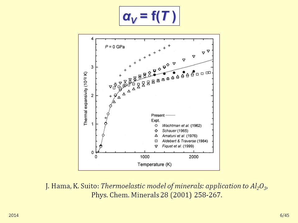 20146/45 α V = f(T ) J. Hama, K.
