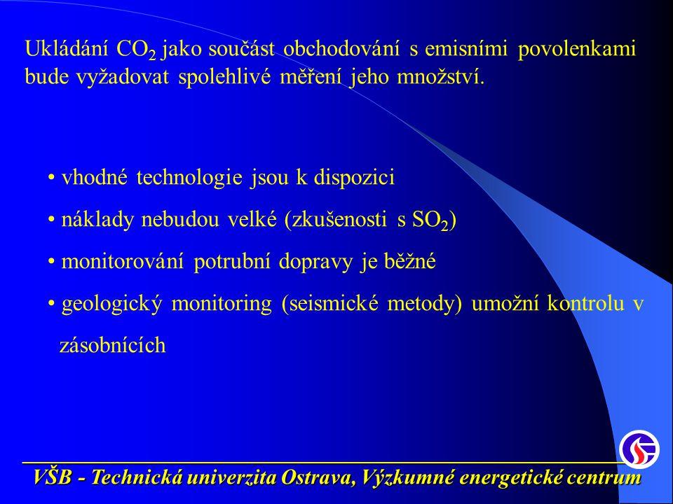 __________________________________________________________ VŠB - Technická univerzita Ostrava, Výzkumné energetické centrum Ukládání CO 2 jako součást obchodování s emisními povolenkami bude vyžadovat spolehlivé měření jeho množství.