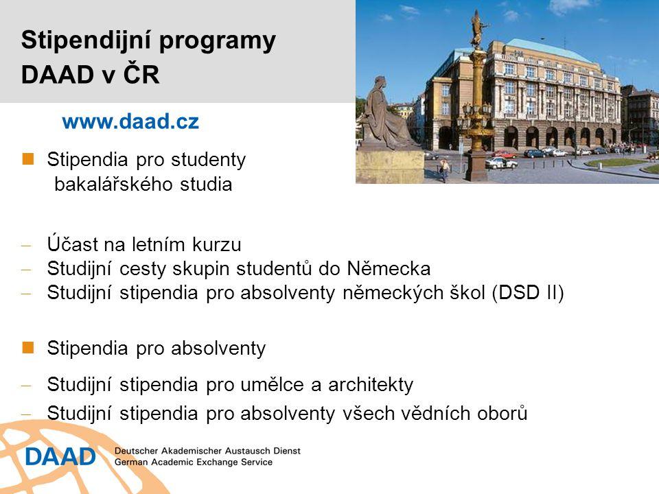 Stipendia umožňující účast na letním kurzu Pro studenty od 2.