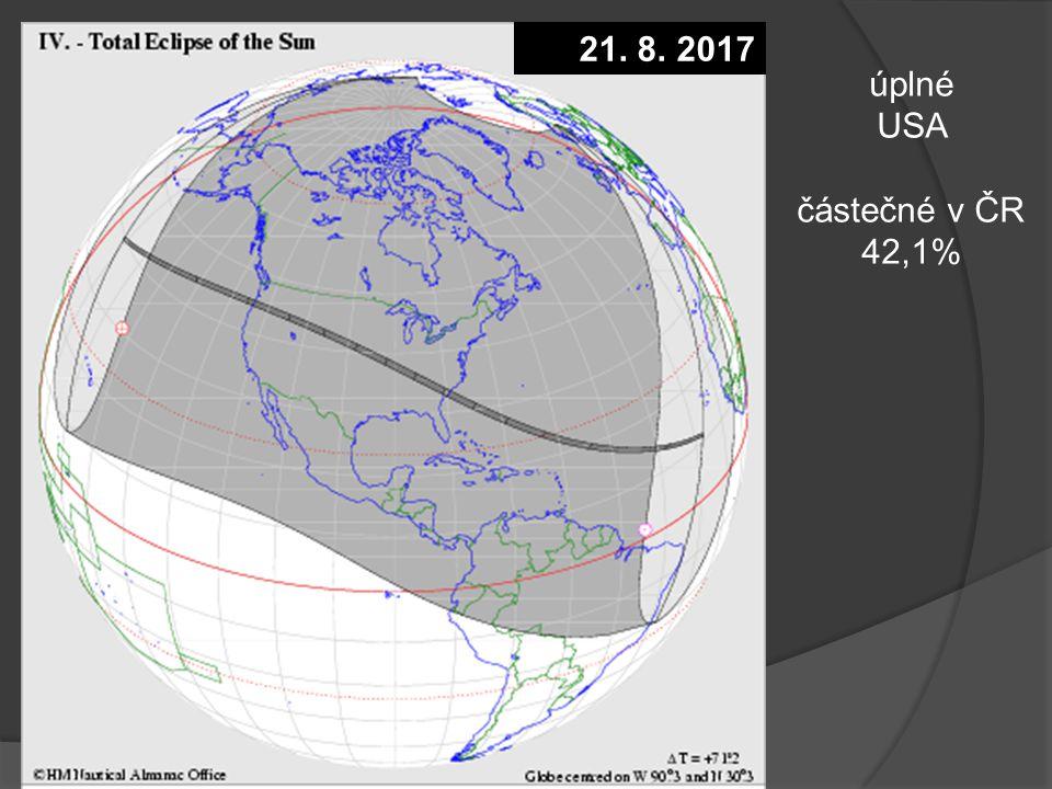 Z jaké části Země je pozorovatelné. Zatmění Měsíce 28.