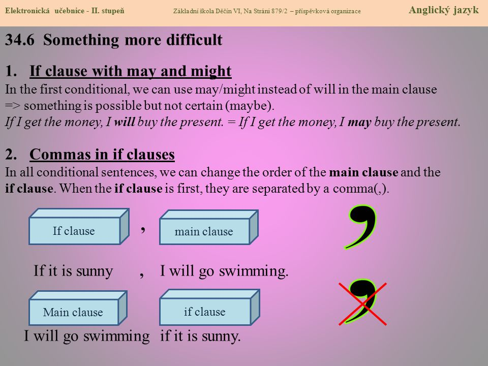 34.7 CLIL - Songs There are 3 songs that include one of the conditional types.