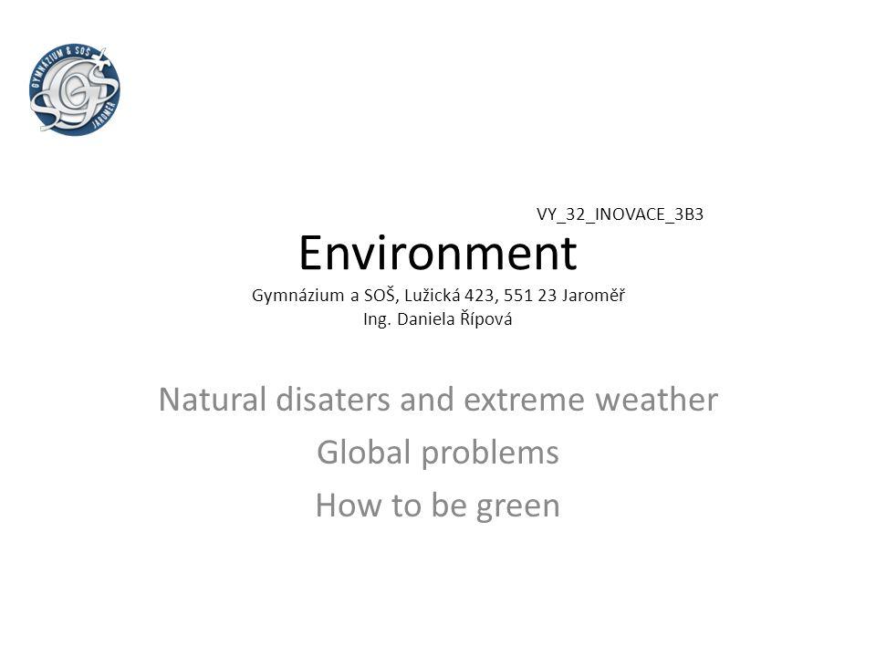 Environment Gymnázium a SOŠ, Lužická 423, 551 23 Jaroměř Ing.