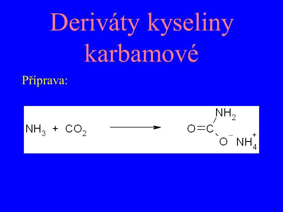 Deriváty kyseliny karbamové Příprava: