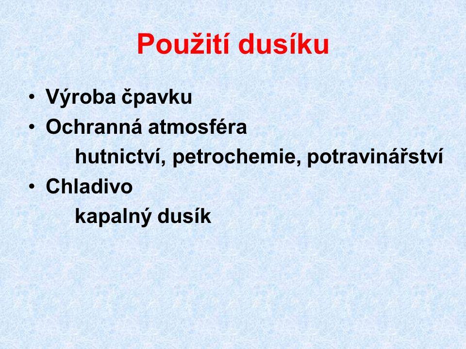 Oxidy dusíku NO 2 oxid dusičitý kapalina nebo plyn (b.t.
