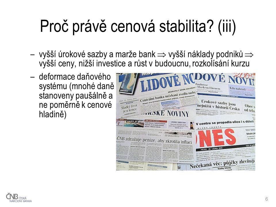 6 Proč právě cenová stabilita.
