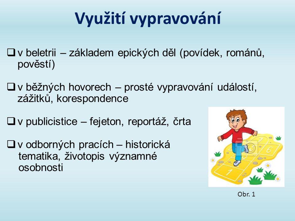 Jazykové prostředky názorný a živý jazyk synonyma všechny vrstvy národního jazyka slova významově bohatá slovesa (nositel děje), příslovce přirovnání, rčení, obrazné prostředky nespisovný jazyk – v řeči postav Obr.