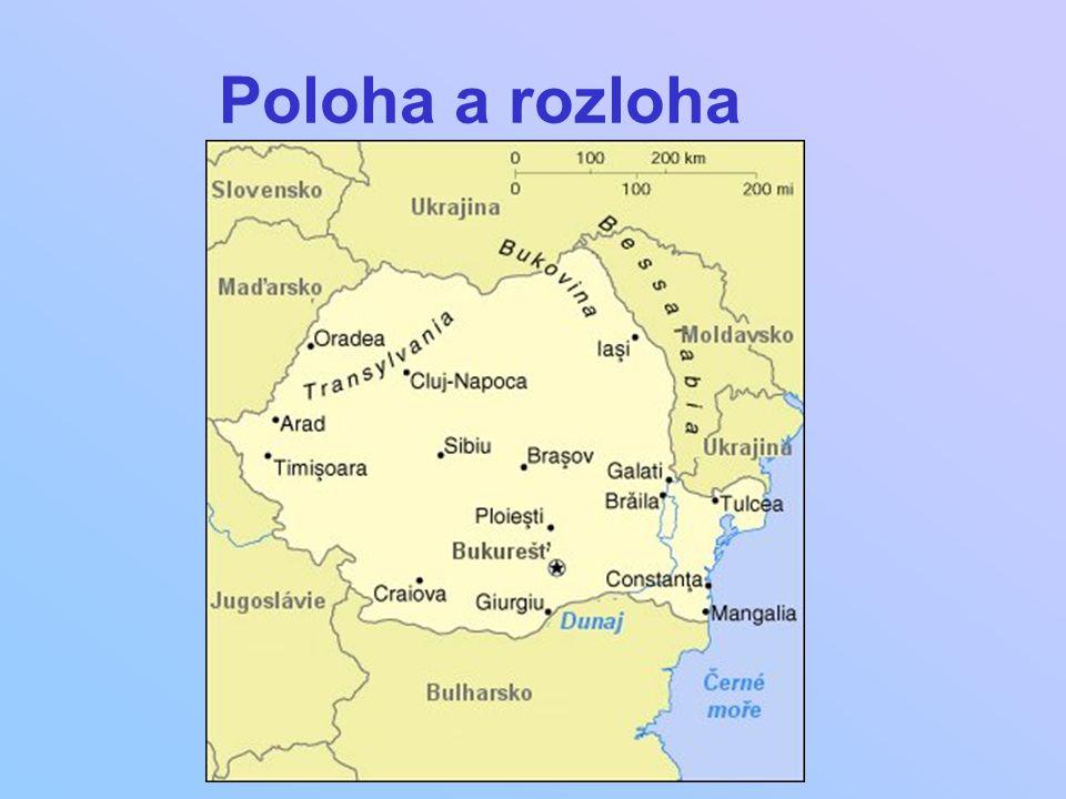 Oficiální název: Rumunsko Státní zřízení: republika Hlavní město: Bukurešť Rozloha: 237 500 km2 Poloha: Balkánský pol.