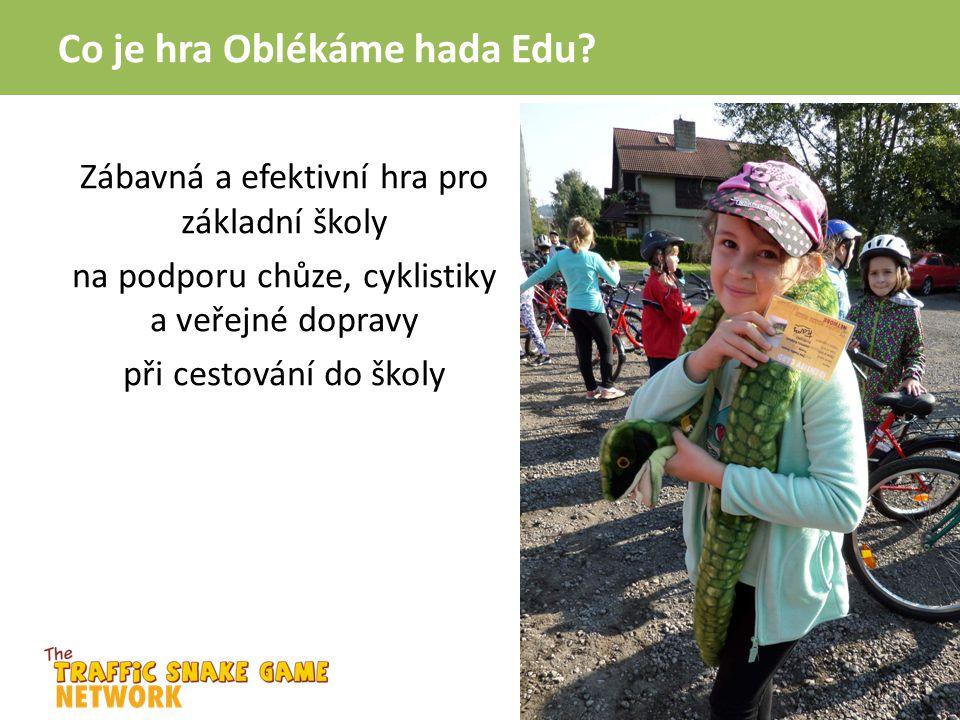 Co je hra Oblékáme hada Edu? Zábavná a efektivní hra pro základní školy na podporu chůze, cyklistiky a veřejné dopravy při cestování do školy