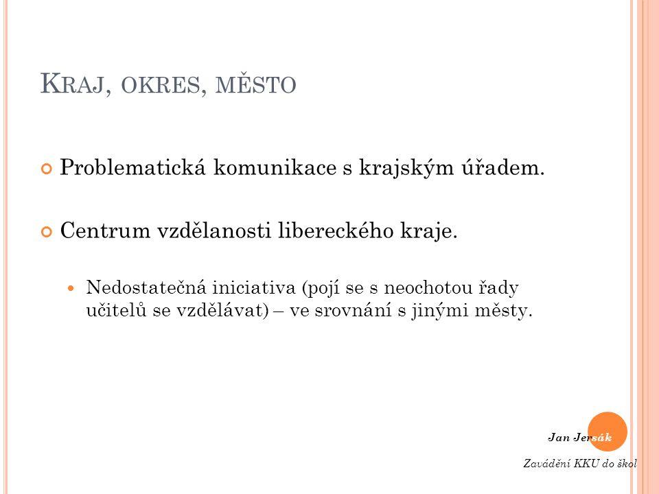 K RAJ, OKRES, MĚSTO Problematická komunikace s krajským úřadem.