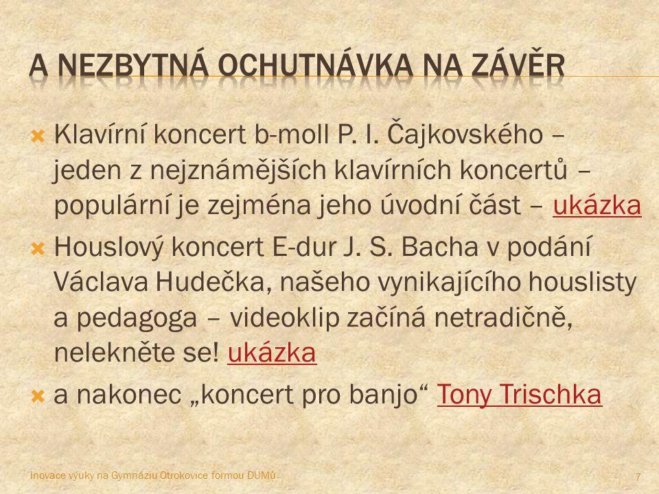  Klavírní koncert b-moll P. I.