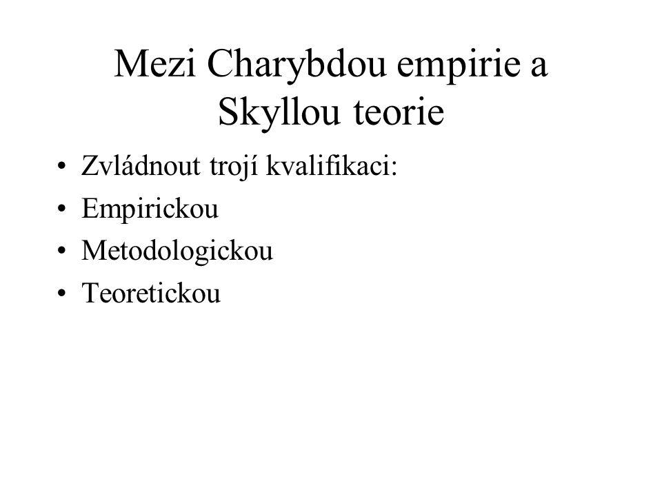 Mezi Charybdou empirie a Skyllou teorie Zvládnout trojí kvalifikaci: Empirickou Metodologickou Teoretickou