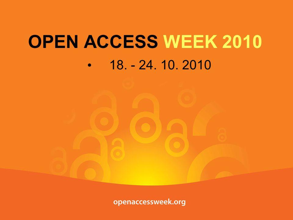 3 210 mm Co to je Open Access Week.
