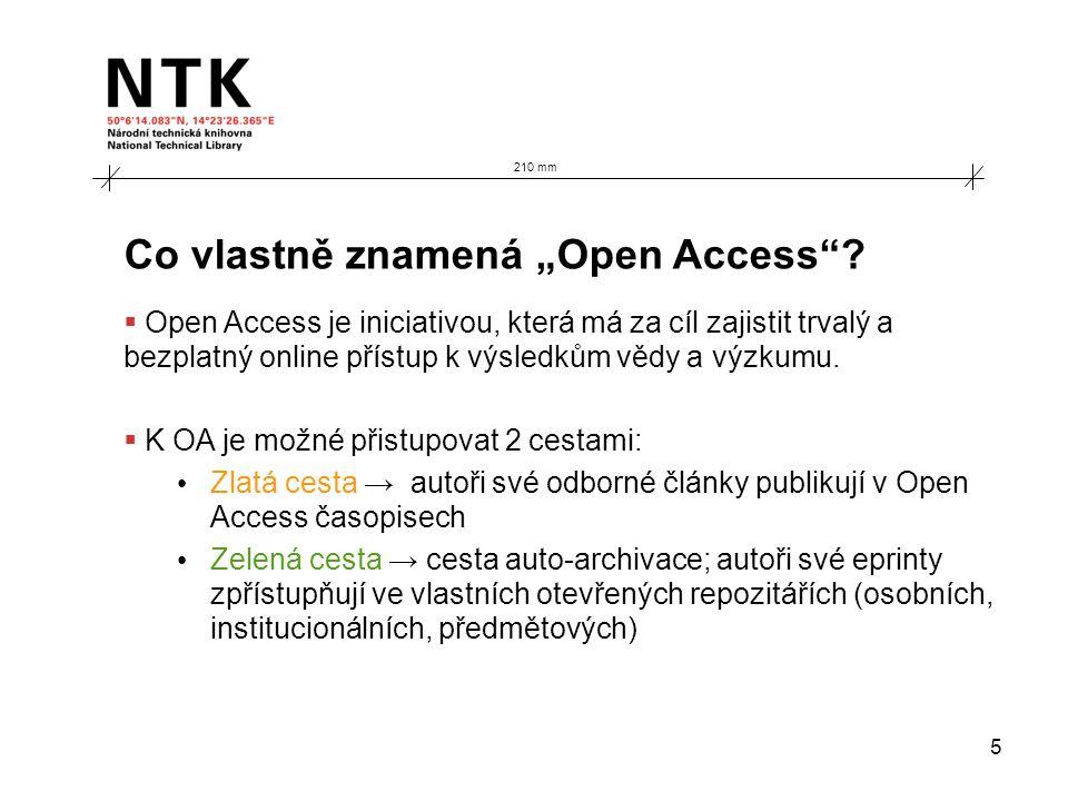 """5 Co vlastně znamená """"Open Access ."""