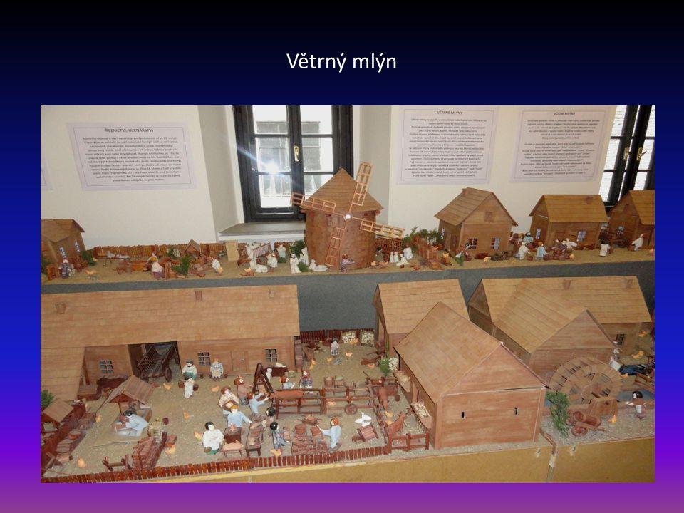 Pohled na druhou část Moravské vesničky, která se nachází v prvém poschodí