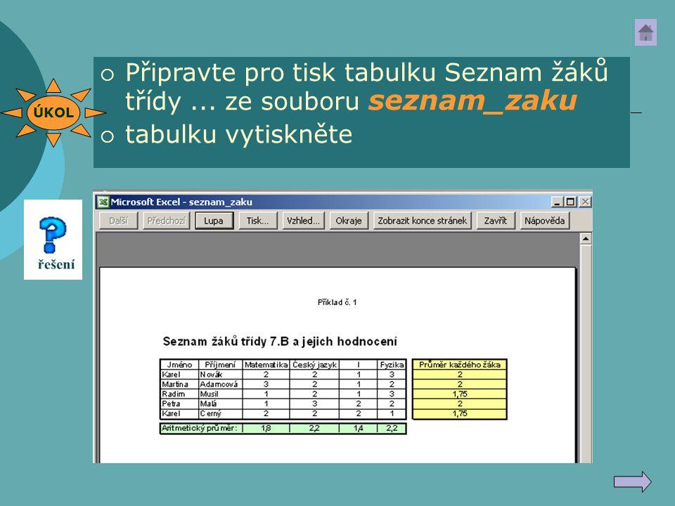 Oblast tisku Soubor  Oblast tisku  Nastavit oblast tisku nejprve musíme označit oblast pro tisk