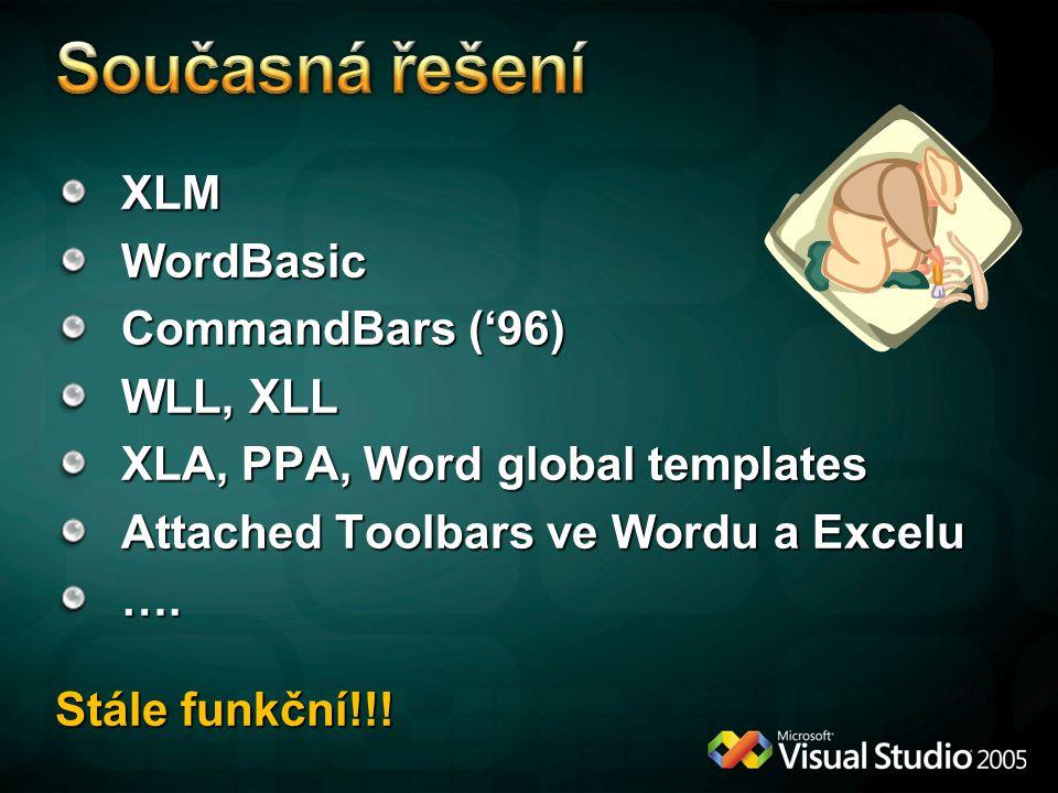 XLMWordBasic CommandBars ('96) WLL, XLL XLA, PPA, Word global templates Attached Toolbars ve Wordu a Excelu ….