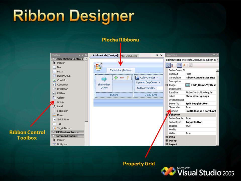 Property Grid Ribbon Control Toolbox Plocha Ribbonu