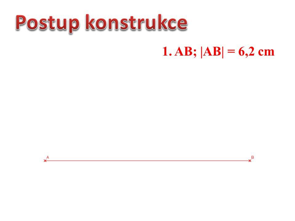 1. AB; |AB| = 6,2 cm