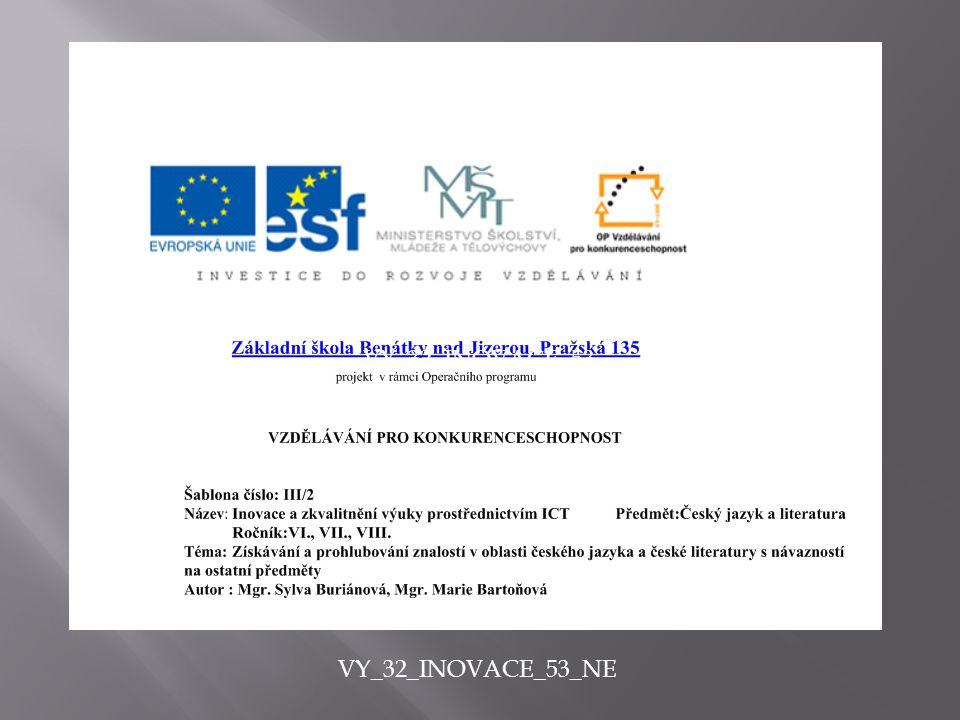 Anotace - prezentace učebního materiálu pomocí programu Power Point, prohloubení znalostí a seznámení s dílem autora Fr.