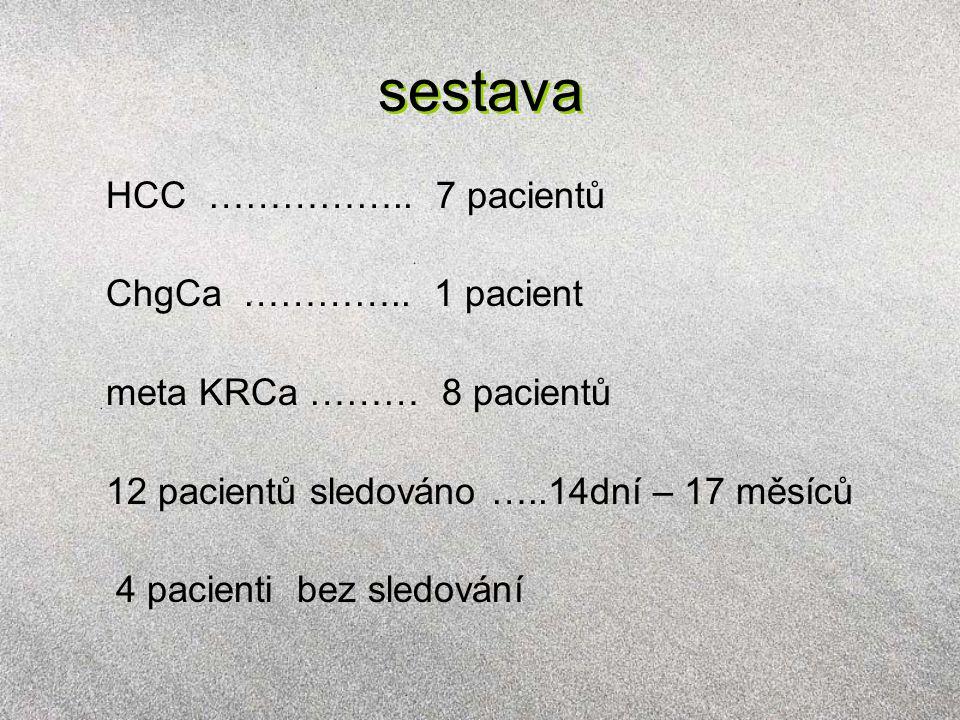 sestava HCC …………….. 7 pacientů ChgCa …………..