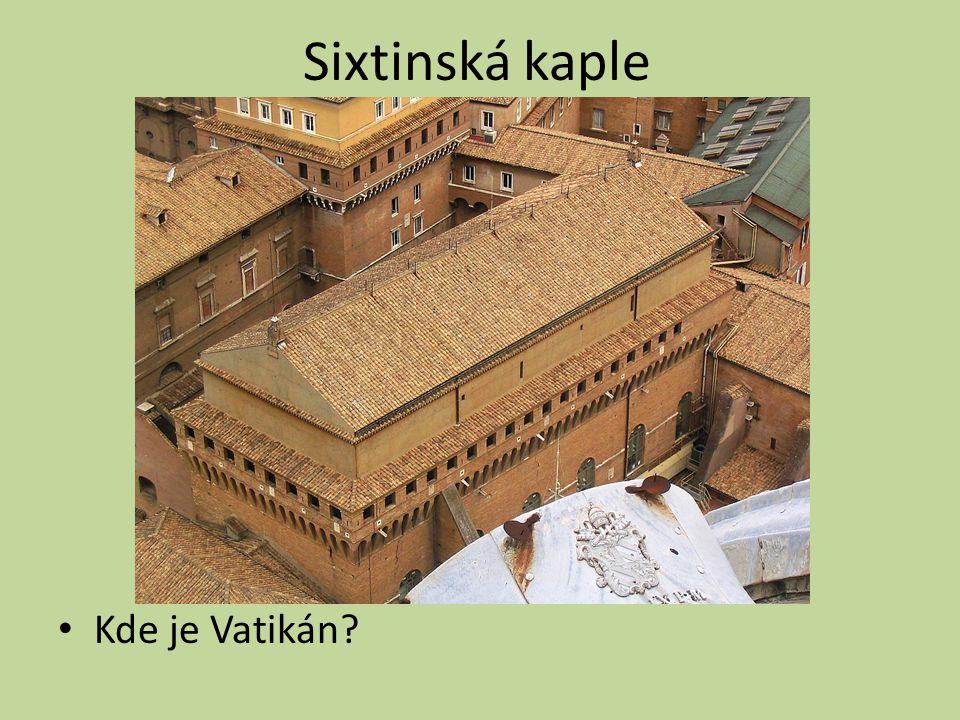 Sixtinská kaple Kde je Vatikán?